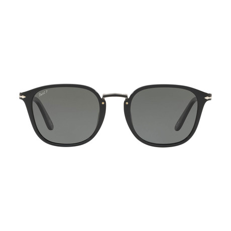 Rectangle Combo Evolution Sunglasses // Black + Gray Polarized