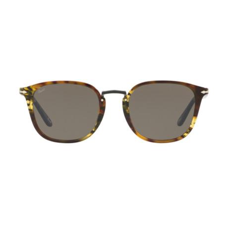 Rectangle Combo Evolution Sunglasses // Tortoise Green + Brown + Gray