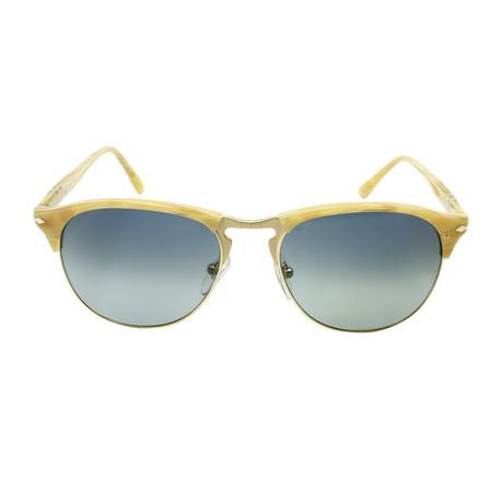 Clubmaster Sunglasses // Ivory + Blue