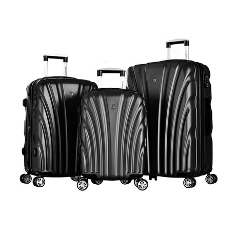 Vortex 3-Piece Hardcase Luggage Set (Gray)