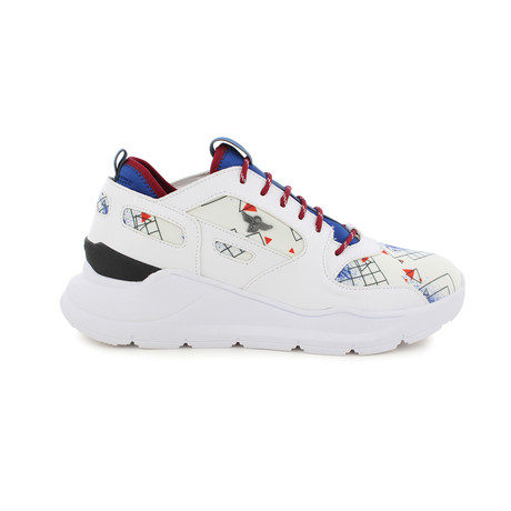Carrara Lace-Up // White + Red + Blue (US: 7)