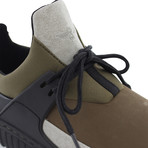 Castucci Casual Sport Sneaker // Black + Olive + Gray (US: 7)