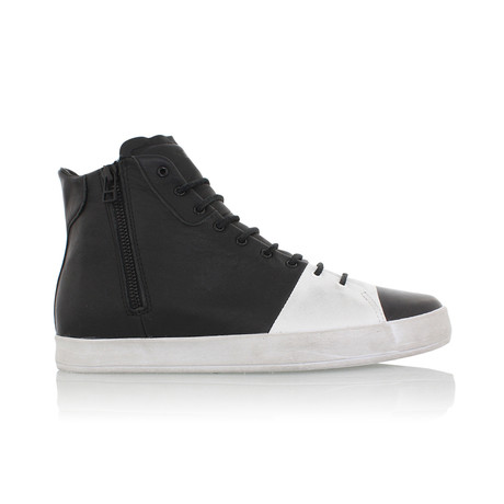 Carda Hi Sneaker // Black + White (US: 7)