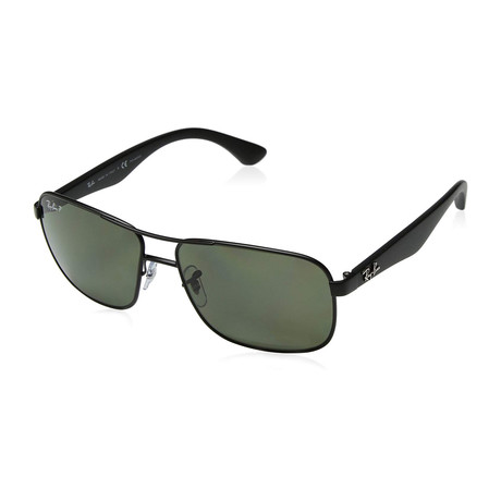 Ray-Ban // Steel Sunglasses  // Black + Green