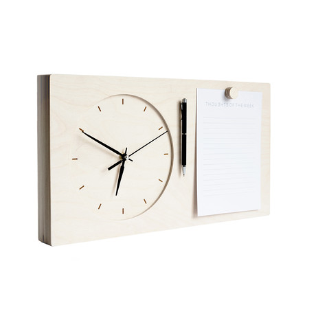 Wall Clock + Notebook