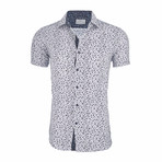 James Short Sleeve Casual Button Down Shirt // White (M)