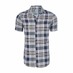 Benjamin Short Sleeve Casual Button Down Shirt // White (L)