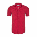 Andrew Short Sleeve Casual Button Down Shirt // Red (XL)