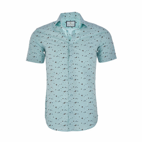 Edward Short Sleeve Casual Button Down Shirt // Mint (XS)
