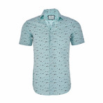 Edward Short Sleeve Casual Button Down Shirt // Mint (S)