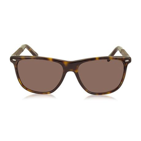 Zegna // Men's Classic Sunglasses // Tortoise + Brown