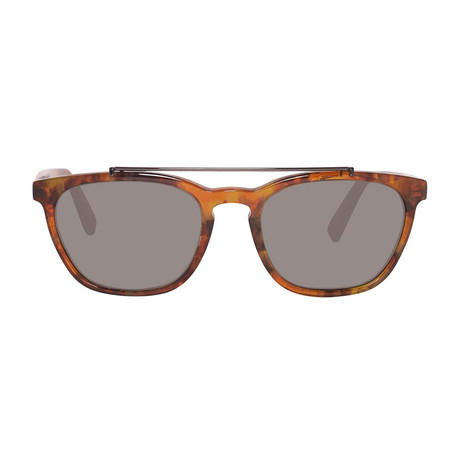 Zegna // Rectangle Top Bar Sunglasses // Tortoise + Brown