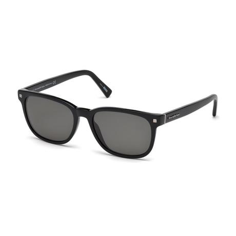 Zegna // Men's Classic Sunglasses // Black + Gray
