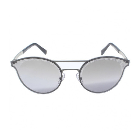 Zegna // Double Bridge Sunglasses // Silver + Silver Mirror