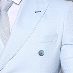 James 3-Piece Slim-Fit Suit // Light Blue (Euro: 42)