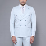 James 3-Piece Slim-Fit Suit // Light Blue (Euro: 50)