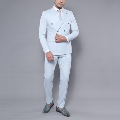 James 3-Piece Slim-Fit Suit // Light Blue (Euro: 44)