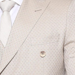 Waldo 3-Piece Slim Fit Suit // Beige (Euro: 48)