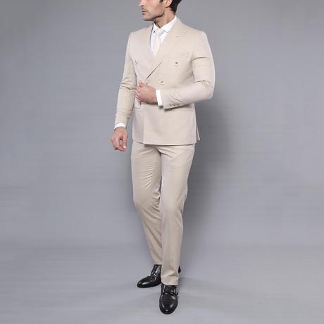 Waldo 3-Piece Slim-Fit Suit // Beige (Euro: 44)