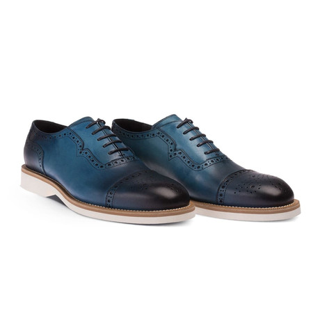 Adelmo Dress Shoes // Blue (Euro: 38)