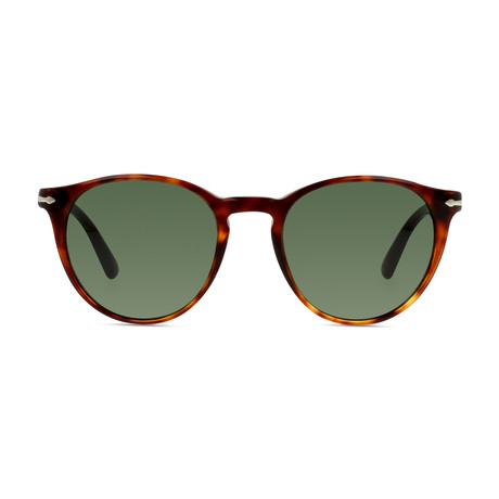 Classic Round Sunglasses V2 // Havana + Green (52mm)