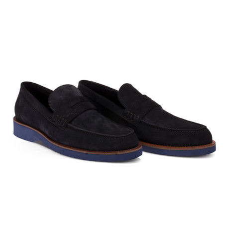 Louis Loafer Moccasin Shoes // Navy Blue (Euro: 38)