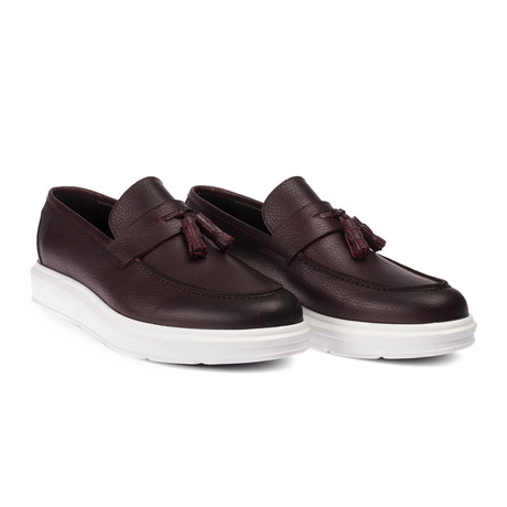 Chaim Loafer Moccasin Shoes // Claret Red (Euro: 38)