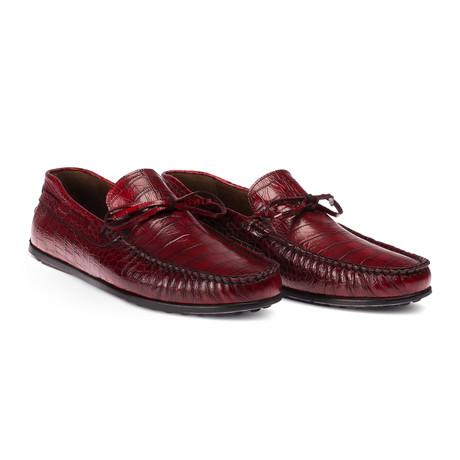 Jaydin Loafer Moccasin Shoes // Claret Red (Euro: 38)
