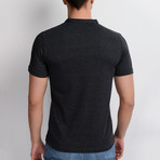 T8560 Collarless Polo // Anthracite (S)