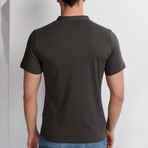 T8560 Collarless Polo // Khaki (S)