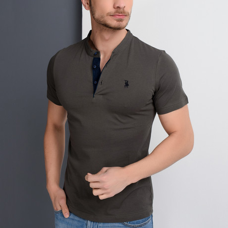Christopher Collarless Polo // Green (Large)