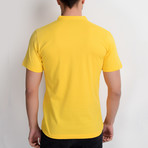 T8560 Collarless Polo // Yellow (S)