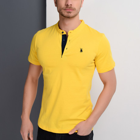 Christopher Collarless Polo // Yellow (Small)