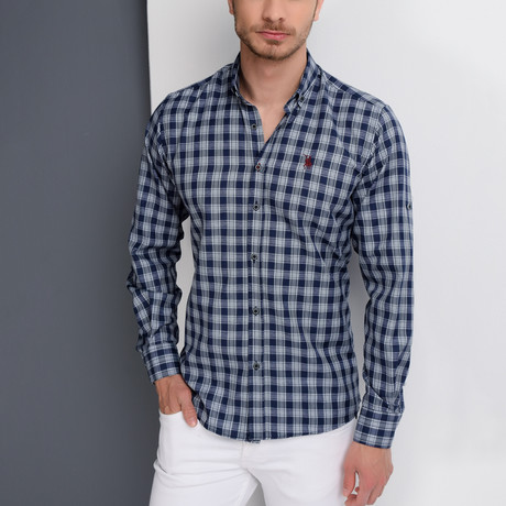 G652 Button-Up Shirt // Dark Blue (2XL)