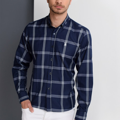 G656 Button-Up Shirt // Dark Blue (3XL)