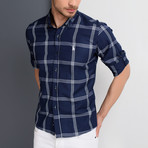 G656 Button-Up Shirt // Dark Blue (S)