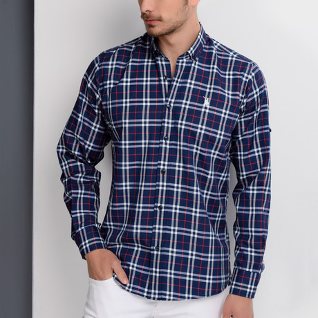 Aaron Button-Up Shirt // Dark Blue (X-Large)