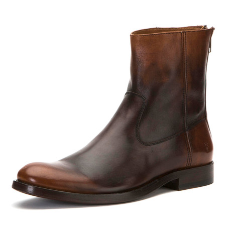 Jacob Boot + Back Zipper // Cognac (US: 7)