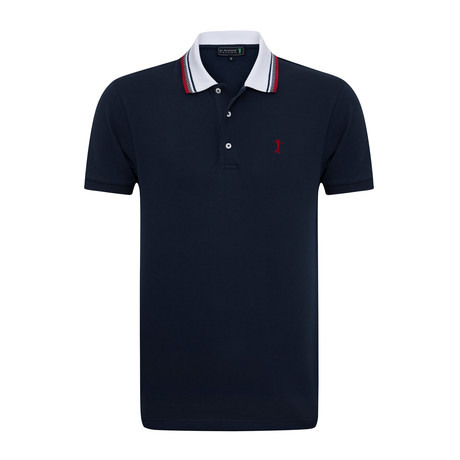 Seed Short Sleeve Polo // Navy (XS)