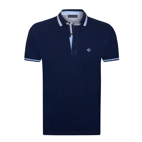 Ground Short Sleeve Polo // Navy (XS)