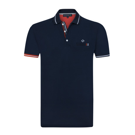 Turf Short Sleeve Polo // Navy (XS)