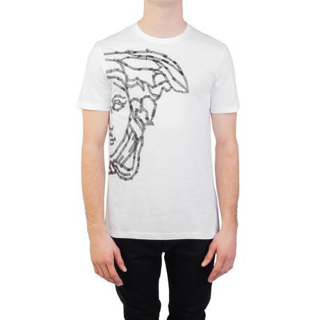 Tape' Medusa Graphic T-Shirt // White (Small)