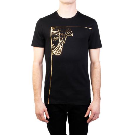Angular Medusa Graphic T-Shirt // Black Gold (Small)