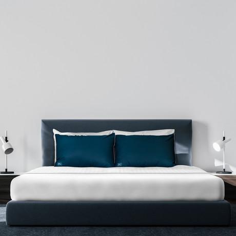 Cool + Crisp 100% Cotton Percale 4-Piece Sheet Set // White (Full)