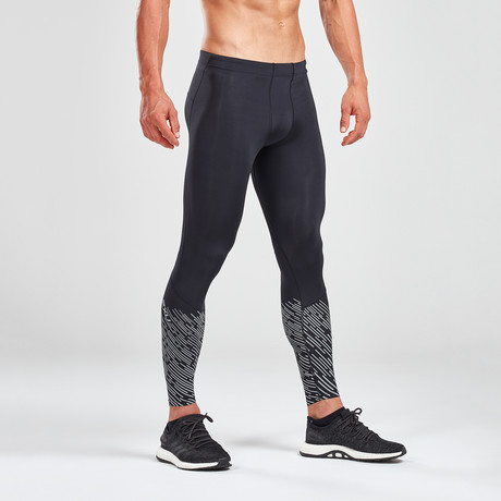 Reflect Run Tights + Back Storage // Black (XS)