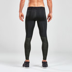 Accel Compression Tights + Storage // Black (L)
