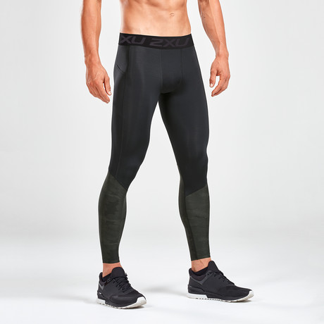 Accel Compression Tights + Storage // Black (XS)