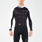 Thermal Long Sleeve Cycle Jersey // Black + White (XL)