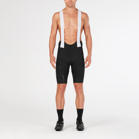 Compression Cycle Bib Shorts // Black (XS)