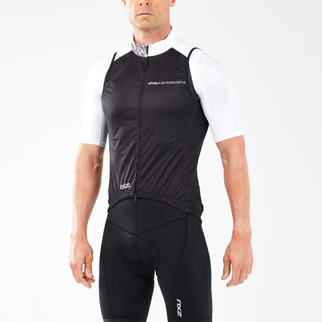 Wind Defense Cycle Gilet // Black + White (XS)